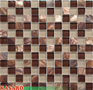 Glass Mosaic Mix Shell Mosaic Bathroom Mosaic Tile Wall Decoration (KSL6648)
