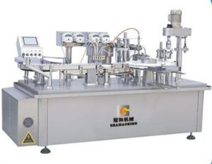 Automatic Liquid Machine with Bottle Filling Capping Labeling Packaging pictures & photos