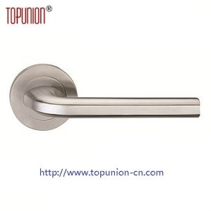 304 Stainless Steel Security Lever Door Handle (CLH019) pictures & photos
