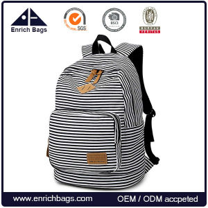 College Canvas Laptop School Bag Student Backpack Bag pictures & photos