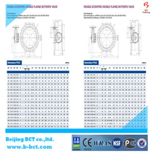 Pn 40 Big Size Double Flanged Double Eccentric Rubber Seated Butterfly Valve pictures & photos