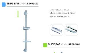 Stainless Steel ABS Bathroom Shower Riser Rails Sliding Bar