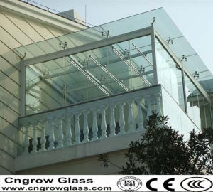3-19mm Clear Tempered Glass for Commercial Buildings Made in China with CCC/ISO9001/CE