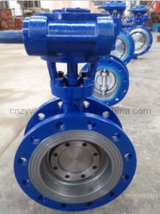 Casting Steel Two-Way Hard Sealing Butterfly Valve pictures & photos