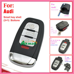 Auto A4l Q5 A6l A8l Smart Key Shell for Audi 4 Buttons with Battery Holders pictures & photos