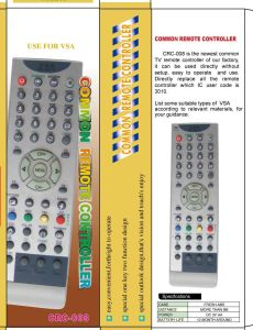 High Quality Universal Remote Control (URC-5) pictures & photos