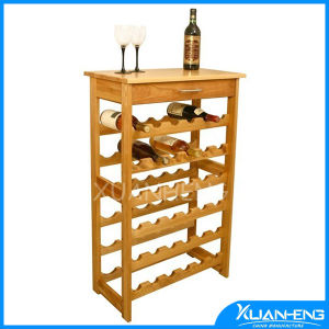 Bamboo Kitchen Cart with Wine Rack pictures & photos