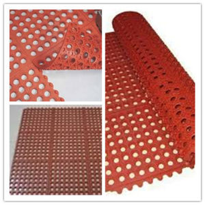 Hy 7004 Interlock Rubber Mat for Kitchen, Hotel pictures & photos