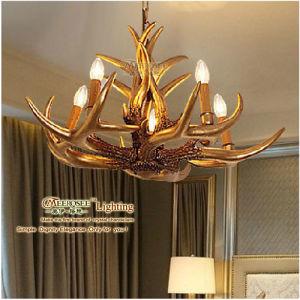 Deer Horn Design Candle Holder Lamp Gold Hanging Lamp Md80370