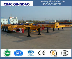 Cimc 2/3 Axles 20FT Skeletal Frame Container Trailer Chassis pictures & photos