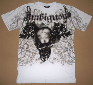 Printing T-Shirts, Printed T-Shirt (discharge printed t shirt) (PT-12002)