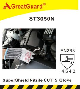 Supershield Cut 5 Nitrile Glove (ST3050N, CE Certificate) pictures & photos