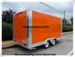 Gas Grill BBQ Rotisserie Chicken Trailer Food Truck with Window pictures & photos