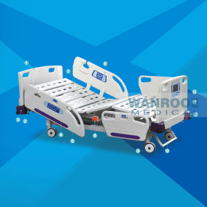 Multifunction Luxurious ABS Electrical ICU Room Medical Equipment Hospital Bed for Sale pictures & photos