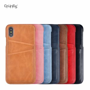7 Color PU Leather Slim Wallet Back Case Cover with Credit Card Holder for Apple iPhone X pictures & photos