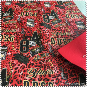 Printed Pattern Artificial Leather for Shoes pictures & photos