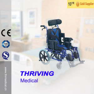 Thr-Cw958L Professional Reclining Wheelchair for Cerebral Palsy Children pictures & photos