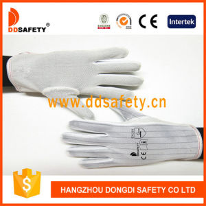 Ddsafety Anti-Static Mini Dots Glove Gloves with Nylon Stitch Hem Dch119 pictures & photos