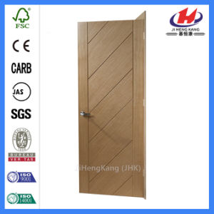Composite Hollow/Solid Wooden Interior Modern Wood Groove Flush Door (JHK-FC03) pictures & photos