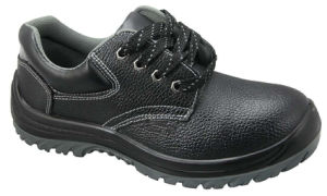 Genuine Leather Safety Shoes with Steel Toe and Plate, Rubber or PU Outsole pictures & photos