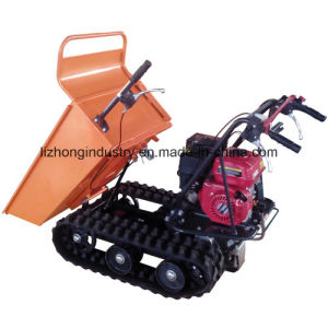 6.5HP 300kgs Manual Tipping Mini Crawler Dumper, Mini Dumper Truck, Garden Mini Dumper Truck pictures & photos
