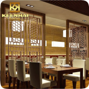 Restaurant Docorative Laser Cut Aluminum Wall Partition Panels pictures & photos