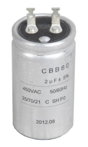 Starting Capacitor AC Motor Run and Start Capacitor (Cbb60 450VAC) with High Voltage pictures & photos