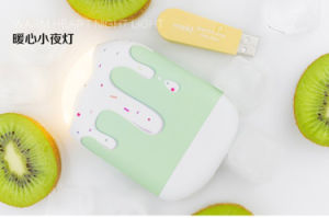 Ice Cream Cute Small Power Bank with Light External Battery Cellphone Universal Portable Charger pictures & photos