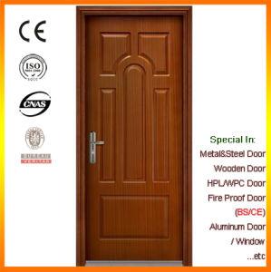 Sapelli Skin Wooden Fireproof Door pictures & photos
