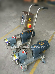 Sanitary Steel Rotary Lobe Portable Electric Gear Oil Pump pictures & photos