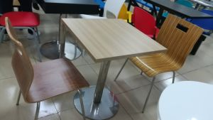 Metal Frame Wooden Dining Coffee Table for Home (DT-15) pictures & photos