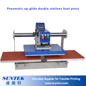 Easy Operate Pneuamtic Double Station Heat Press Machine for Clothes pictures & photos