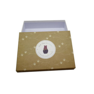 Gold Lid Inventory Gift Packing Paper Box (QY150218)
