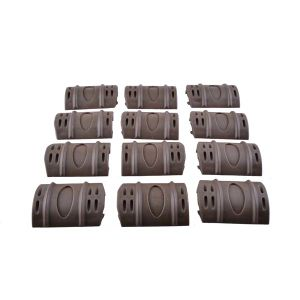 12PCS Pack Rubber Snap Painball Airsoft Rail Covers Tan pictures & photos