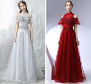Short Sleeves Party Dresses Lace Beading Evening Prom Dresses E52733 pictures & photos