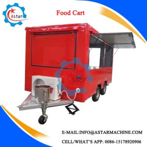 4 Wheels Electric Driven Bus Type Food Vending Tricycle Cart pictures & photos