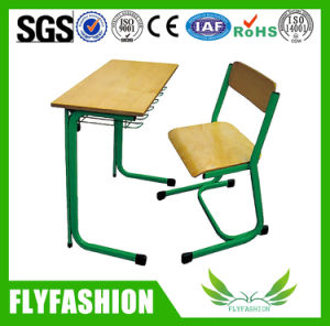 Modern Classroom Furniture Single School Desk with Chair (SF-55S) pictures & photos