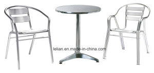 High Quality Outdoor Stainless Steel Table and Chairs (LL-WST007) pictures & photos