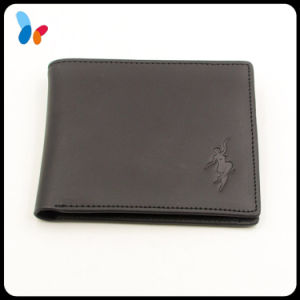 Custom Fashion Black Purse Genuine Leather Wallet for Men pictures & photos