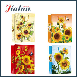Sunflowers Cmyk Printed Cheap Glossy Lamination Wholesales Paper Gift Bag pictures & photos