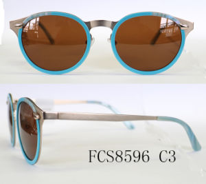 Acetate and Metal Combination Sunglasses pictures & photos