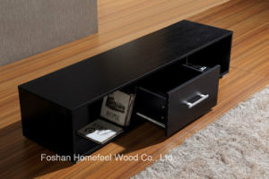 Wooden Melamine TV Stand with One Drawer pictures & photos