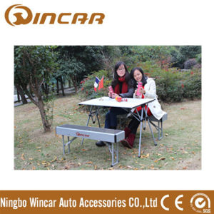Folding Outdoor Camp Suitcase Picnic Table by Wincar