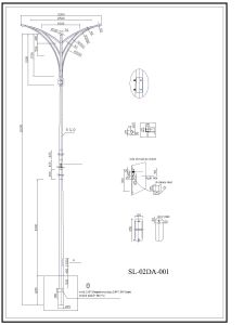Outdoor Lighting Q345 S355 Galvanized Steel Pole pictures & photos