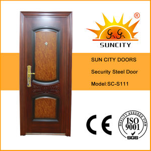 High Quality Residential Used Metal Security Doors (SC-S111) pictures & photos