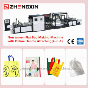 4-in-1 Full Auto Non Woven Bag Making Machine with Online Handle Bonding (ZXL-D700) pictures & photos