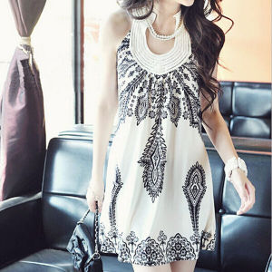 2015 Fashion Bohemia Retro Cheap Sleeveless Casual Dress pictures & photos
