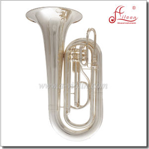 Bb Key Silver Plated Stainless Steel Piston Marching Tuba  (TU030G) pictures & photos