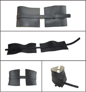 Wide Fashion Black Genuine Leather Belt pictures & photos
