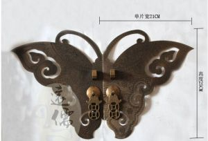 Door Handle with Chinese Antique Style, Btterfly Shaped pictures & photos